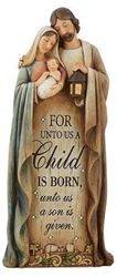 Picture of A Child is Born Nativity Figurine 12 in.