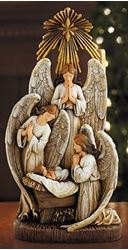 Picture of Three Angels in Adoration Figurine 13 in.