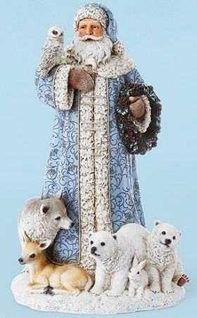 Picture of Blue Saint Nick With Animals 16 in.