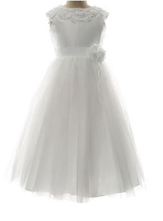 Picture of Communion Dress with Floral Embroidery Size 7