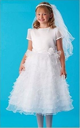 Picture of Communion Dress with Ruffles