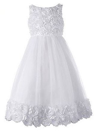 Picture of Communion Dress with Floral Accent