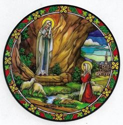 Picture of  Our Lady of Lourdes  Suncatcher