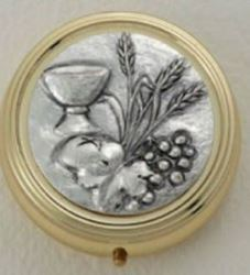 Chalice, Wheat, And Grapes Pyx