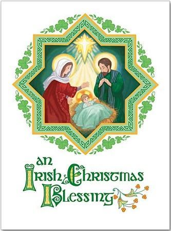Catholic Christmas Cards.An Irish Christmas Blessing Cards