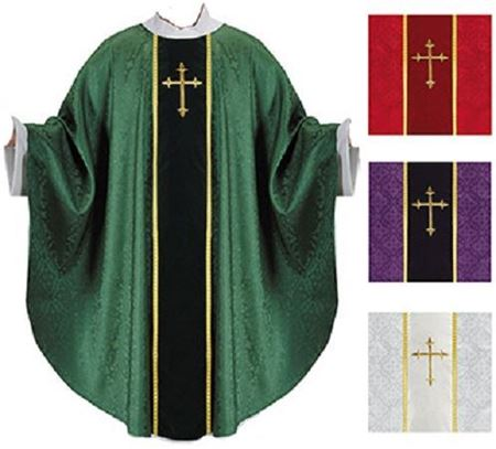 Picture of Monastic Jacquard Orphrey Chasuble
