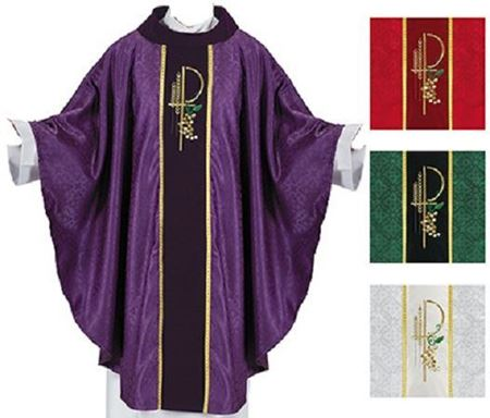 Picture of Eucharistic Jacquard Cowl Neck Chasuble