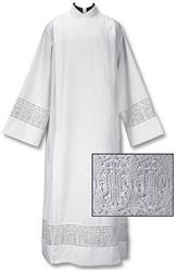 Picture of Front Wrap Alb with Latin Cross and IHS Lace