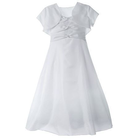 Picture of Communion Dress with Bow Bodice and Jacket - Size 6X