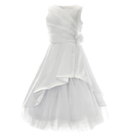 Picture of Communion Dress with Satin over Tulle - Size 7, 8, 10