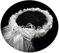 Picture of Communion Veil with Flower Wreath