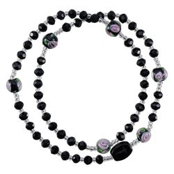Picture of 5 Decade Black Rosary Bracelet 4mm