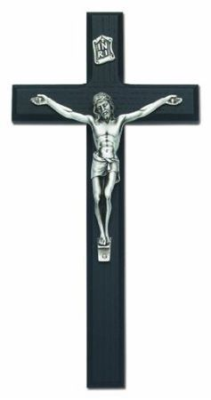 Picture of Black Stained Crucifix 10 Inch